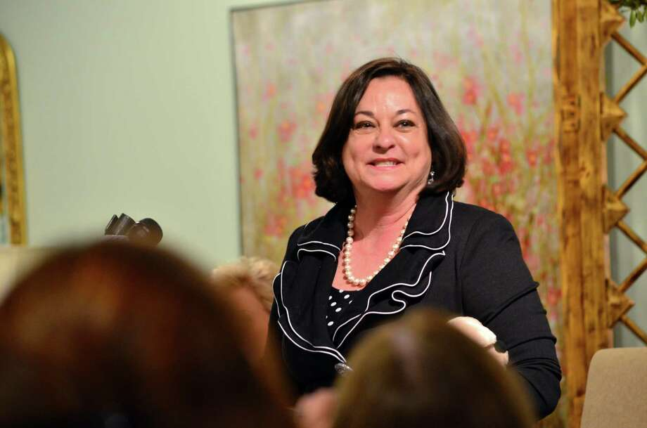 Kathy McShane, head of the New Canaan, Conn.-based Ladies Launch Club networking group for women entrepreneurs, in March 2014 at an event featuring Linda McMahon. On Jan. 12, 2018, SBA Administrator McMahon named McShane to lead the SBA's office of women's business ownership. Photo: Megan Spicer / Megan Spicer / Darien News
