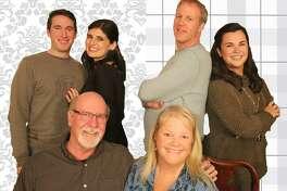 """Cast of """"How the Other Half Loves,"""" includes, Jim Hile and Terri Corigliano, sitting; Brett Aiello, left, Mena Buscetto, Dave Bell and Mary Corigliano, standing."""