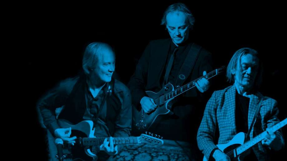 """Masters of the Telecaster,"" featuring Jim Weider (The Band), left, Snowy White (Pink Floyd) and G.E. Smith (Roger Waters), will be presented at Fairfield Theatre Company's StageOne on Jan. 19. Photo: Fairfield Theatre Company / Contributed Photo"