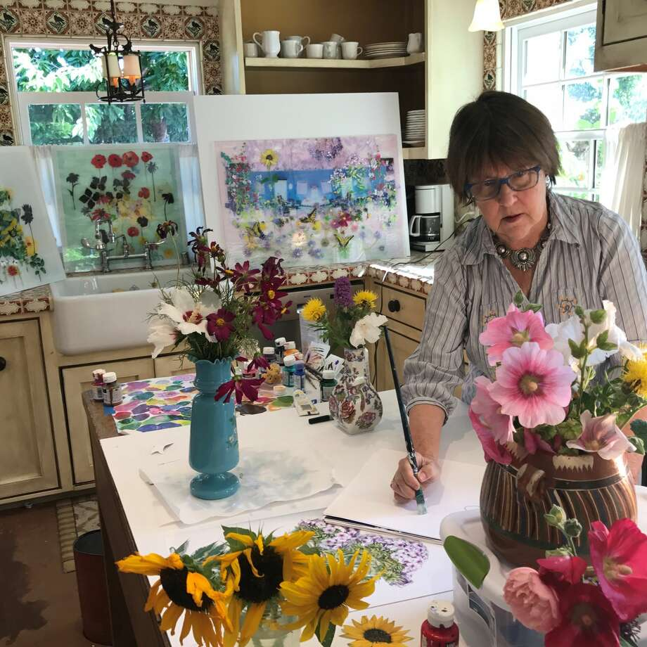 Art teacher Gail Norfleethelped the former president on his path to painting over the course of two years beginning in 2012. Photo: Courtesy Photo
