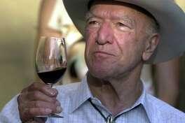 Winemaking patriarch Robert Mondavi on his 90th birthday at his party at Mondavi Winery in California's Napa Valley on Sept. 14, 2003.