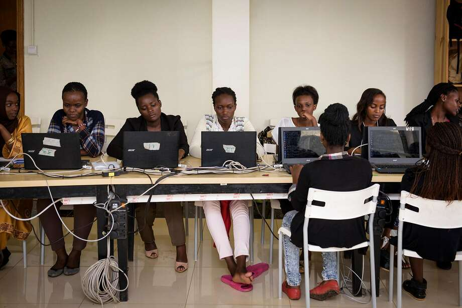 Students at the Akilah Institute in Kigali, Rwanda, a nonprofit college for women. More than 60 women are now enrolled in its degree program in information and communications technology. Photo: Jacobia Dahm, Special To The Chronicle