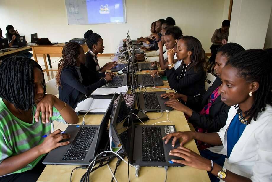Students at the Akilah Institute. The degree program started in 2014 with 10 women enrolled in information and communications technology studies and now has more than 60 students. Photo: Jacobia Dahm, Special To The Chronicle