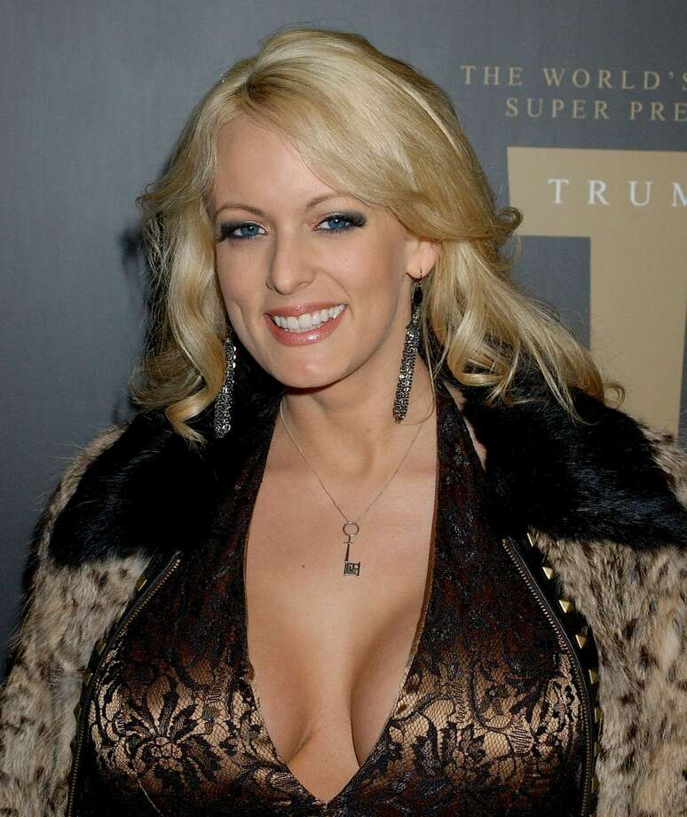 Stormy Daniels at a Trump Vodka launch party in 2007. Photo: Gregg DeGuire/