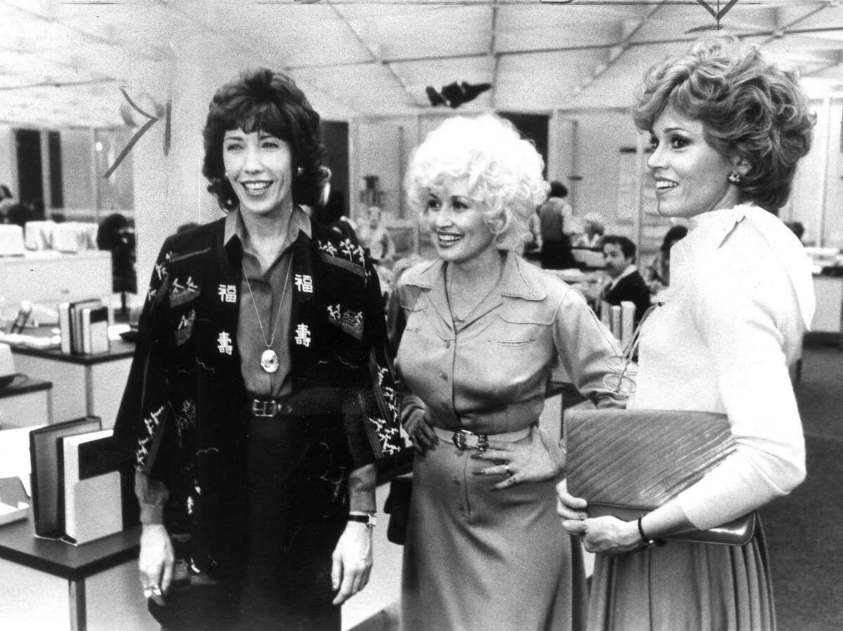 Lily Tomlin, Dolly Parton and Jane Fonda in the movie Nine to Five Handout