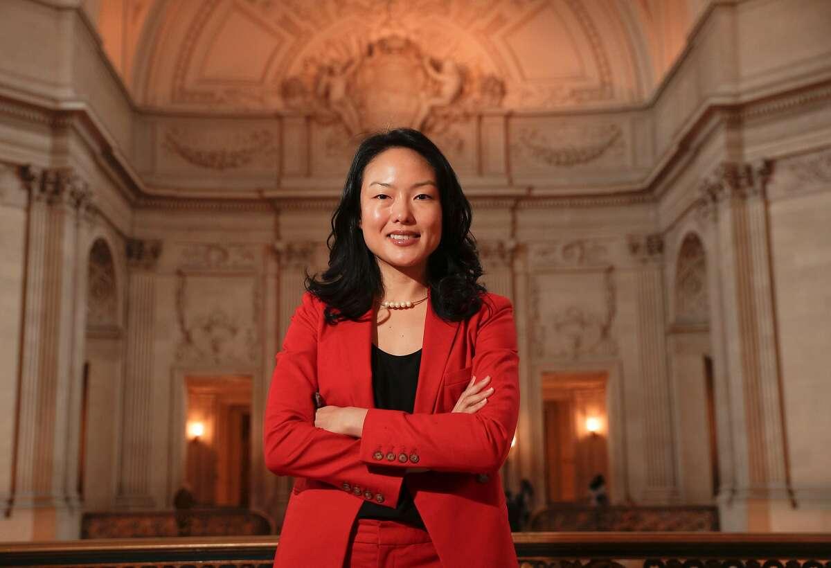 San Francisco Supervisor Jane Kim poses for a portrait inside City Hall in San Francisco, Calif. on Fri. January 5, 2018.