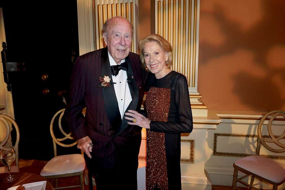 Former Secretary of State George Shultz and his wife, Protocol Chief Charlotte Shultz, at the Old Mint for a California Historical Society gala in his honor Jan. 11, 2017. Photo: Catherine Bigelow, Special To The Chronicle