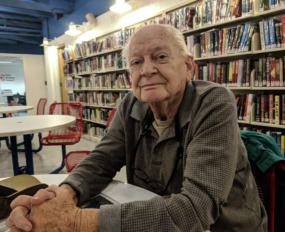 Dean Goss, 91, at Ailton's Cafe in the basement of Greenwich Library. Goss grew up in New Canaan and his wife grew up in Greenwich. The two raised their family here and he has been involved with the RTM since the 1960s Photo: Jennifer Turiano / Hearst CT Media