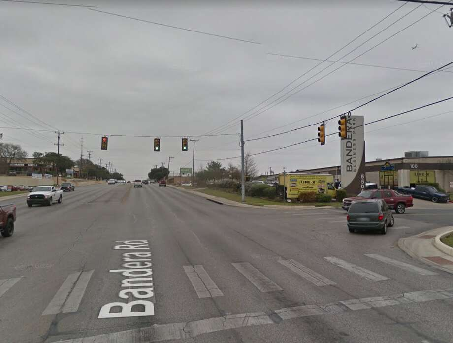 Click ahead to see which intersections have the red-light cameras.Bandera and Timco Photo: Google Maps
