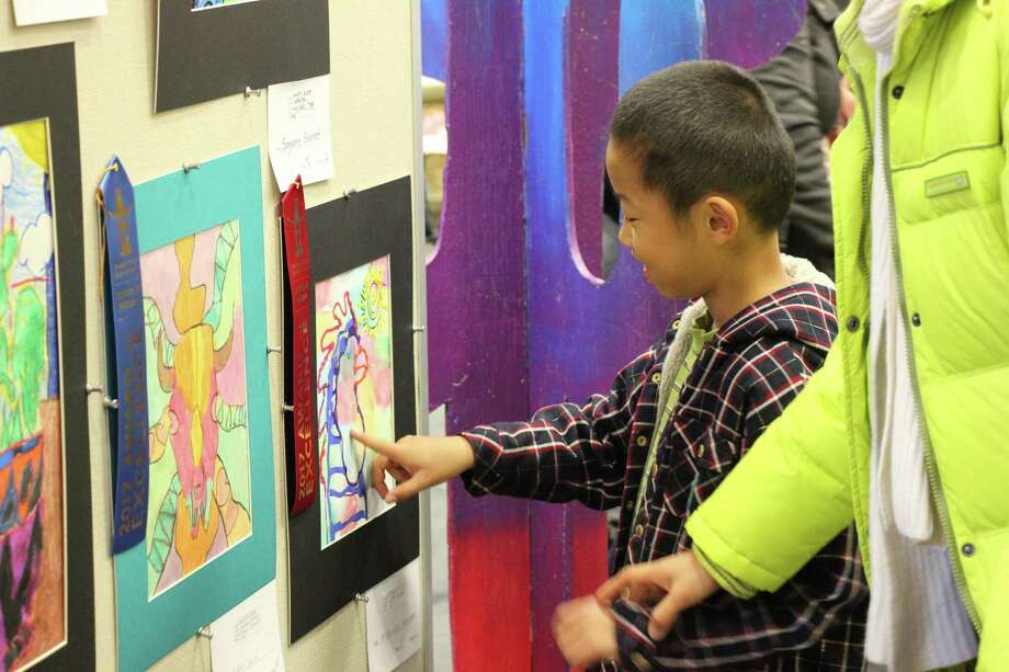 Hundreds of student art pieces will be on display Saturday at the Conroe 9th grade campus for a western themed art exhibit. Photo: Conroe ISD