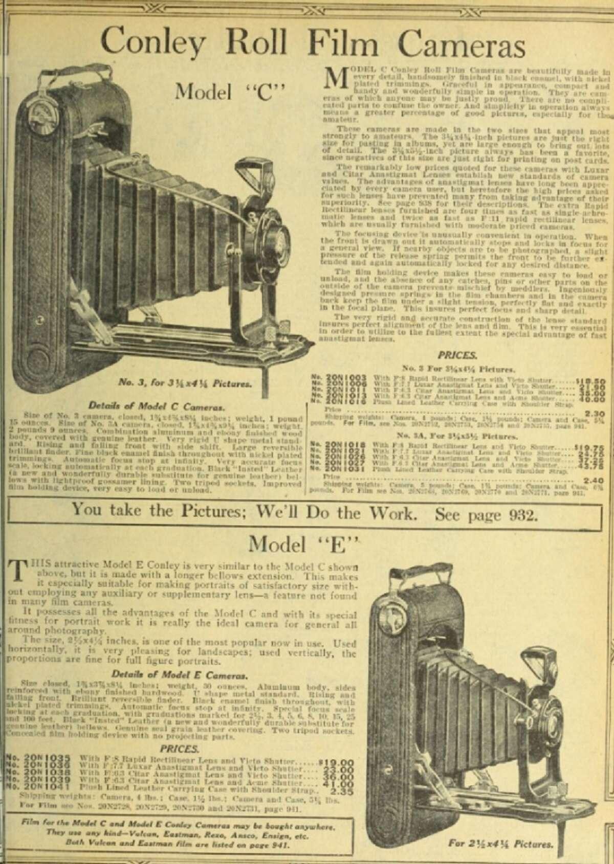 1918 Sears, Roebuck and Co. similar item, Model E Conley camera -$43.75: In 2018,$770.39