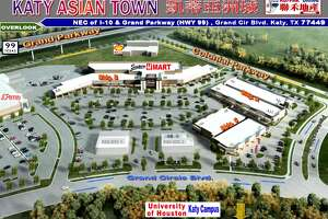 """Private developers are building""""Katy Asian Town""""at the northeast corner of the Grand Parkway and Interstate 10. The15.5-acre center will be anchored by an H Mart, a popular Asian grocery store chain."""