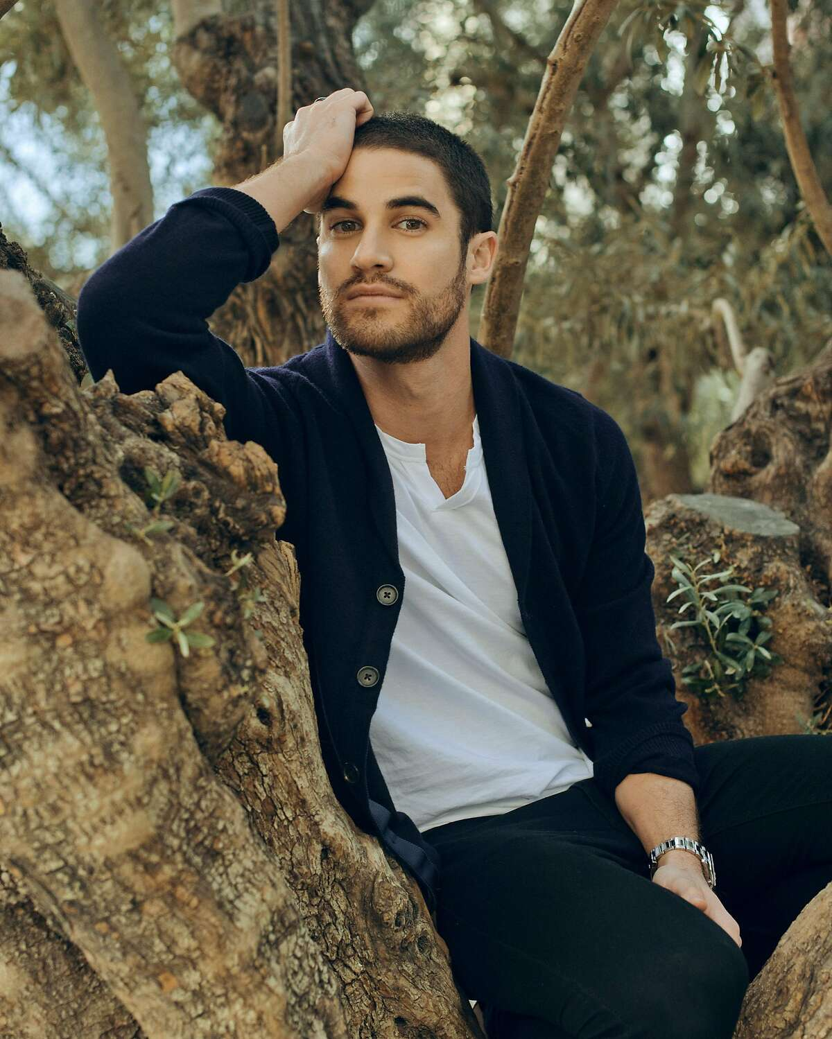 Darren Criss, star of the upcoming �The Assassination of Gianni Versace: American Crime Story,� in Los Angeles, Nov. 27, 2017. Playing a gay gigolo turned serial killer was a big change for Criss, who is best known as a preppy love interest on �Glee.� (Ryan Pfluger/The New York Times)