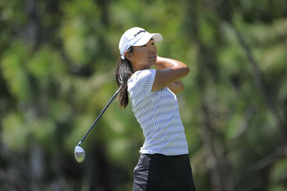 Mina Harigae watches her shot during the Futures Tour iMPACT Invitational at LPGA International in Daytona Beach, Fla. (Courtesy of Scott Miller) Photo: Scott A. Miller / ©2009 Scott A. Miller