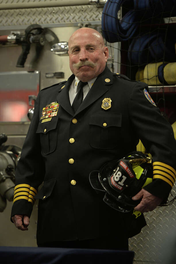 David Hickman during a retirement party in his honor Jan. 12, 2018 at the Midland Fire Department central station.  James Durbin/Reporter-Telegram Photo: James Durbin
