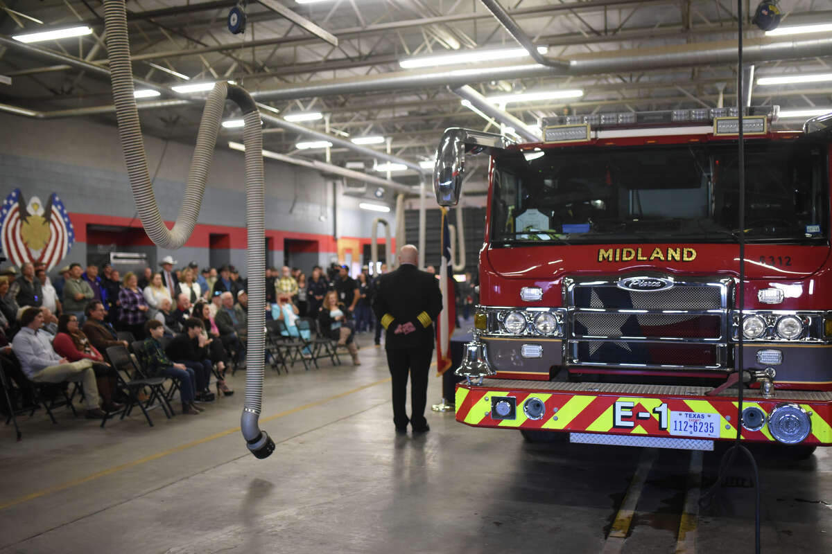 More than one hundred people attended a retirement party for Midland Fire Department's David Hickman Jan. 12, 2018 at the Midland Fire Department central station. James Durbin/Reporter-Telegram