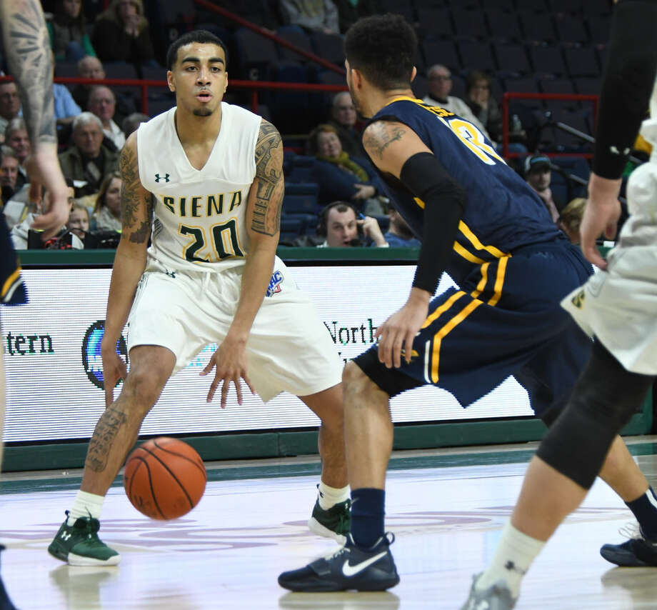 Siena freshman point guard Roman Penn will face Manhattan, which forces a MAAC-best 15.6 turnovers per game. (Jenn March/Special to the Times Union)