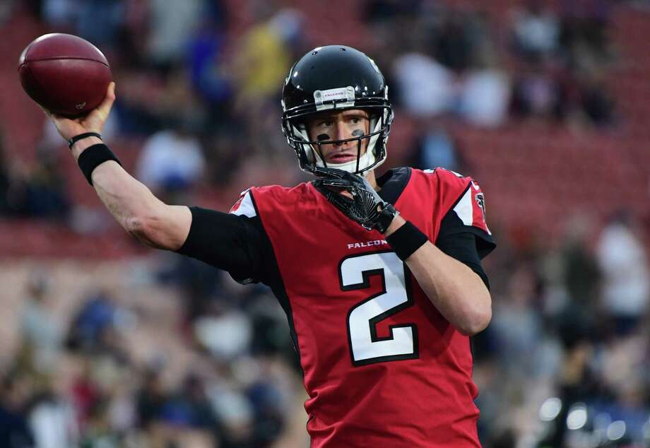LOS ANGELES, CA - JANUARY 06:  Quarterback Matt Ryan #2 of the Atlanta Falcons warms up before the NFC Wild Card Playoff game against the Los Angeles Rams at Los Angeles Coliseum on January 6, 2018 in Los Angeles, California.  (Photo by Harry How/Getty Images) Photo: Harry How / 2018 Getty Images