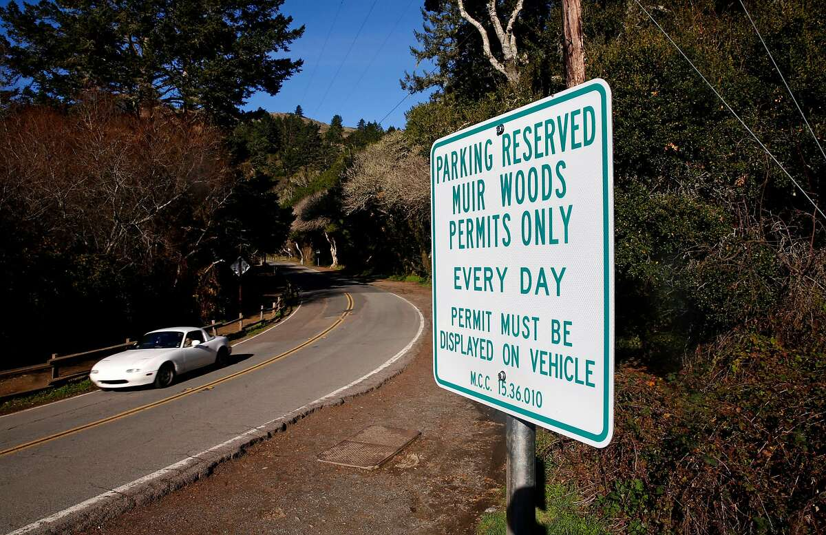 Visitors will start paying for parking at Muir Woods as the National Park Service will begin requiring reservations for parking in the lots and some of the roadside dirt parking spaces starting on January 16th, as seen on Friday, Jan. 12, 2018 in Mill Valley, Calif..