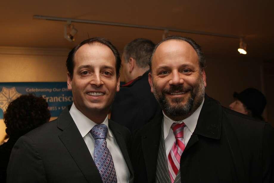 Joseph Alioto Veronese, left, and then-Mayor's Neighborhood Services Director Mike Farrah in 2009. Photo: Bill Wilson