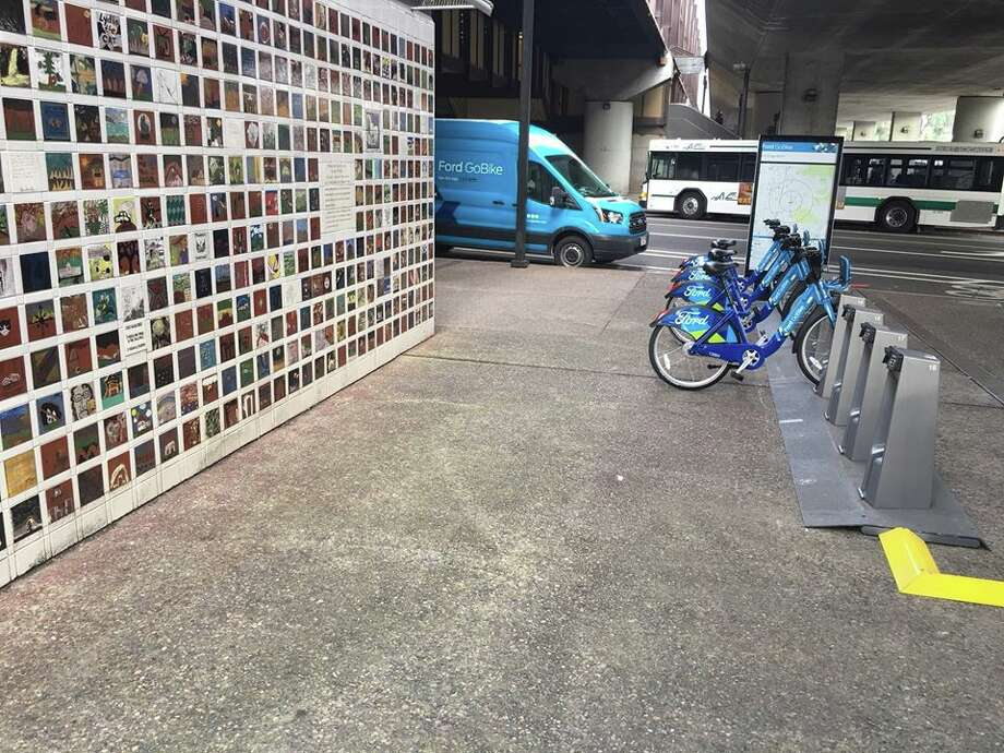 Oakland officials said they are looking for a new location for a Ford GoBike docking station after residents expressed outrage over its proximity to an Oakland firestorm memorial. Photo: City Of Oakland