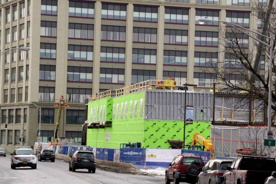 Construction work continues on the Courtyard by Marriott hotel on River Street on Thursday, Jan. 11, 2018, in Troy, N.Y.  (Paul Buckowski/Times Union) Photo: PAUL BUCKOWSKI / (Paul Buckowski/Times Union)