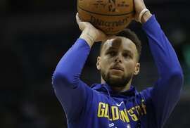 Golden State Warriors' Stephen Curry shoots before an NBA basketball game against the Milwaukee Bucks Friday, Jan. 12, 2018, in Milwaukee. (AP Photo/Morry Gash)