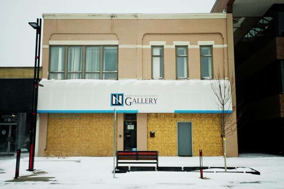 A site which was a temporary home to Northwood Gallery will be the new location of the Midland Daily News. The move is planned for this spring, upon completion of renovations. (Katy Kildee/kkildee@mdn.net)