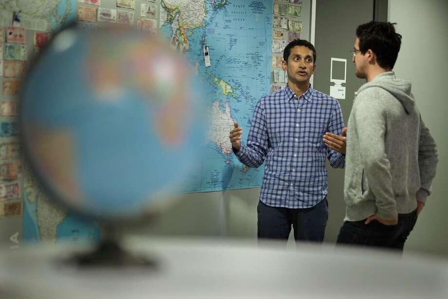 Premal Shah (left) founded Kiva, an online lending platform. Photo: Peter DaSilva