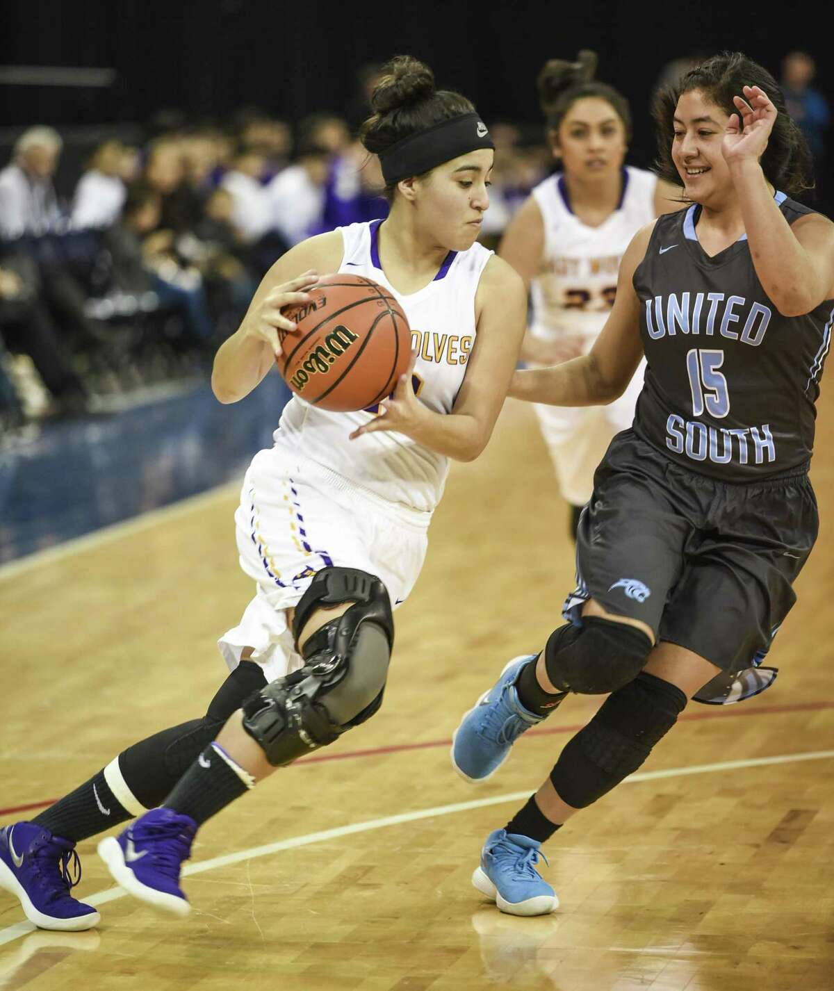 United South faces LBJ at 4:30 p.m. Friday at Laredo Energy Arena. The Lady Panthers are attempting to keep pace atop the district standings while the Lady Wolves search for their first win in league play.