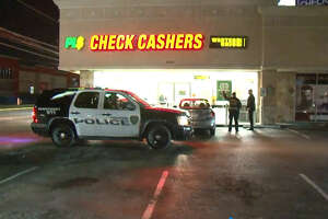 A man was shot in the arm Friday night while walking in a west Houston parking lot, according to the Houston Police Department. Police officers found the unidentified man around 11 p.m. near Westheimer and Fondren, after he walked to a check cashing store and employees called the police.