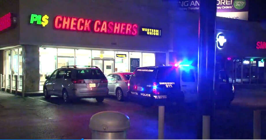 A man was shot in the arm Friday night while walking in a west Houston parking lot, according to the Houston Police Department. Police officers found the unidentified man around 11 p.m. near Westheimer and Fondren, after he walked to a check cashing store and employees called the police. Photo: Metro Video