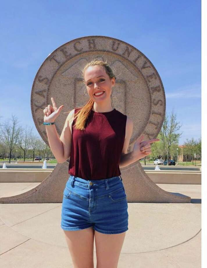 Houstonian and Texas Tech student, Diana Durkin accidentally ticked off TSA by throwing up Tech's finger gun symbol to another Tech student while in the security line. Photo: Courtesy Of Diana Durkin