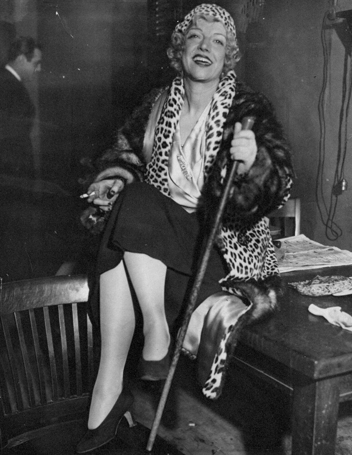 """Mary """"Texas"""" Guinen (1884-1933)The queen of New York's nightlife, Guinan was an actress turned entrepreneur who became known for her speakeasy, The 300 Club, which included scantily clad dancers that were popular with the customers."""