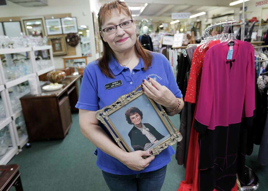 Aprille Williams is following in the footsteps of her grandmother Lucille Whitaker, who managed the St. Christopher's Resale Shop. Photo: Elizabeth Conley, Chronicle / © 2018 Houston Chronicle