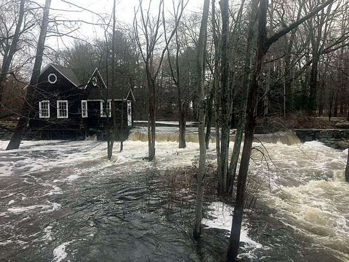 The fire department in Weston, Conn., warned residents of rivers and brooks flooding on Jan. 13, 2018.