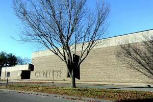 The town of Stratford intends to tear down the former Center School on Sutton Avenue. Its proximity to I-95 makes the site attractive for development. File photo.