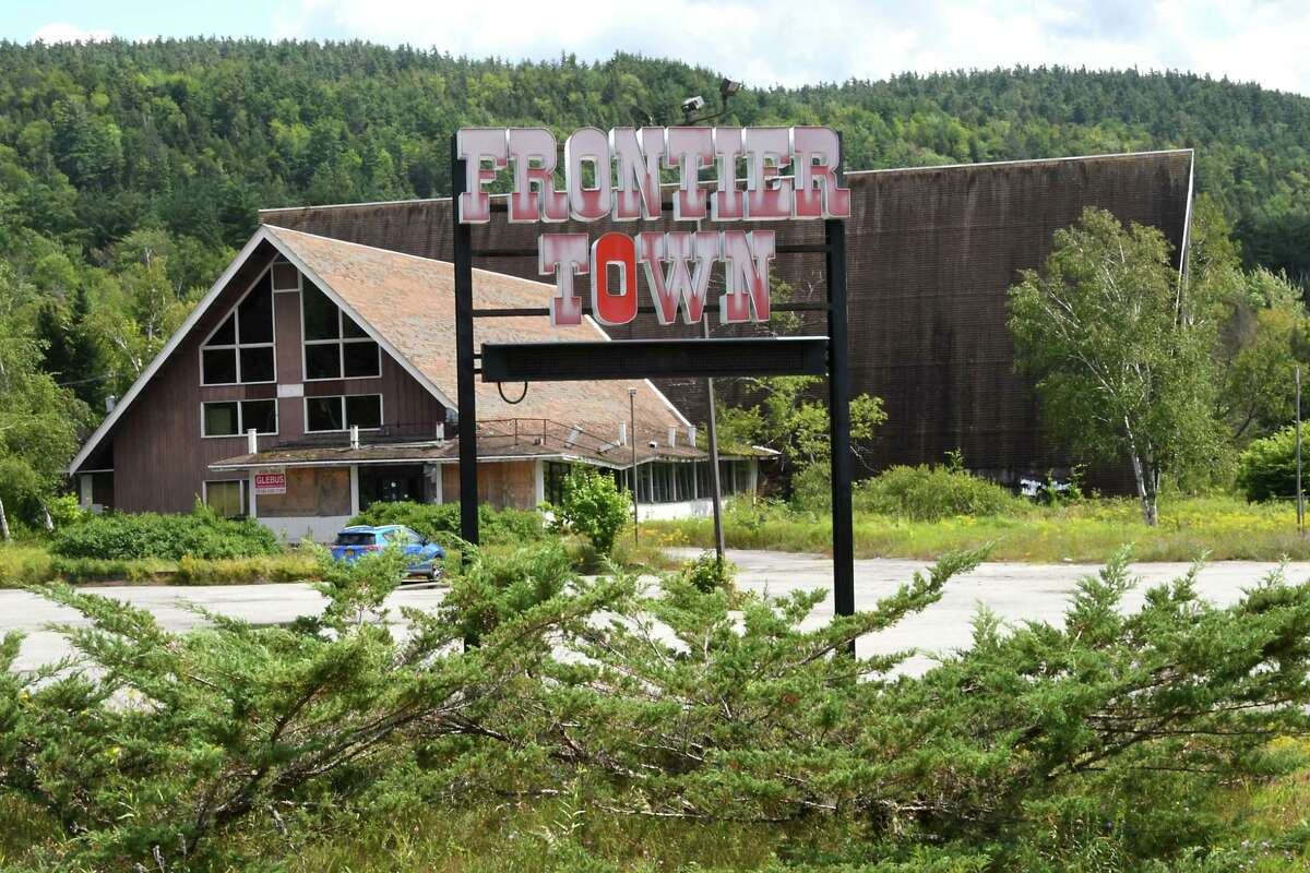 Sign in front of the abandoned Frontier Town on Sunday, Aug. 6, 2017 in North Hudson, N.Y. (Lori Van Buren / Times Union)