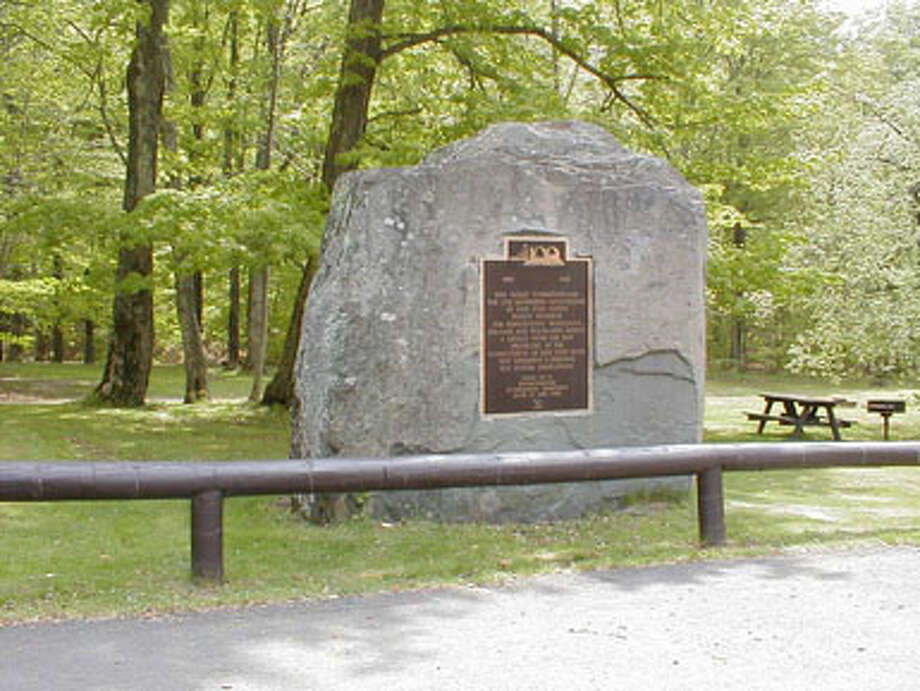 According to the state Department of Environmental Conservation, Devil's Tombstone is one of the oldest campgrounds in the Catskill Forest Preserve, offering mysteries of the Devil's Tombstone and a haven for primitive camping. It is a small primitive campground with wooded sites and a small shallow lake, Notch Lake. (DEC photo)