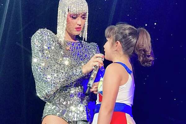 Ten-year-old Amanda Mitchell, of Laredo, got the thrill of a lifetime when pop star Katy Perry called the fan up onstage during Perry's San Antonio show last week at the AT&T Center.