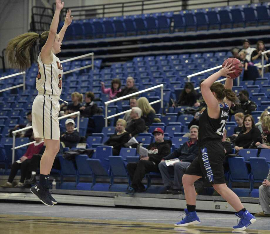 Women's basketball game between UMass Boston and Western Connecticut State University on Saturday afternoon, January 13, 2018, at the O'Neill Center on the WCSU Westside campus, in Danbury, Conn. Photo: H John Voorhees III / Hearst Connecticut Media / The News-Times