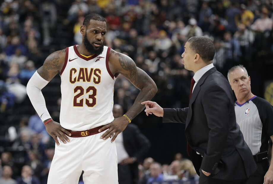 LeBron James and coach Tyronn Lue have led Cleveland to three straight Finals, but the Cavs don't get after it on defense the way Eastern Conference-leading Boston does. Photo: Darron Cummings, Associated Press