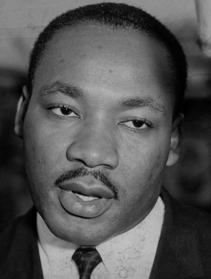 Martin Luther King, Oct. 9, 1961, in Albany, N.Y. (Bernard Kolenberg/Times Union archive)