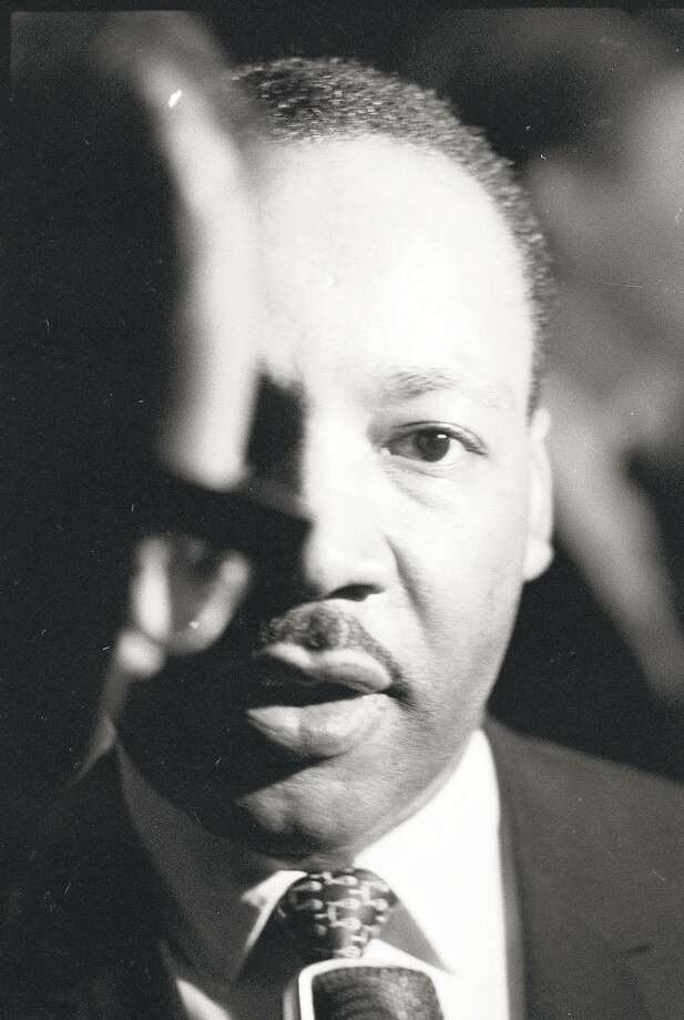 Reverend Martin Luther King at Stanford University April 14, 1967. Photo: Jerry Telfer / The Chronicle
