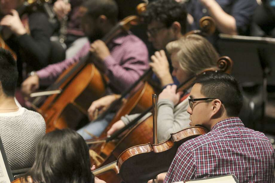 The San Antonio Symphony rehearses Wednesday January 3, 2018 at the Tobin Center. They are rehearsing for the upcoming tricentennial concerts. Photo: John Davenport, STAFF / San Antonio Express-News / ©John Davenport/San Antonio Express-News