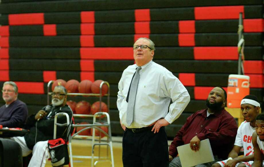 Central coach Barry McLeod watches his team in a FCIAC game against Norwalk on Jan. 20. The Hilltoppers are off to a 4-2 start this season. Photo: Christian Abraham / Hearst Connecticut Media / Connecticut Post