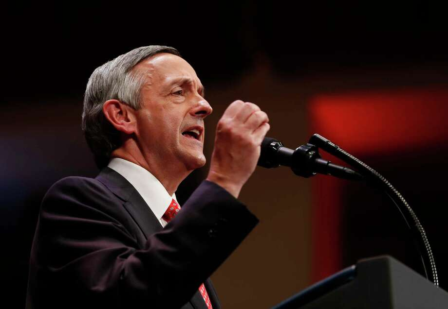 Robert Jeffress, a controversial pastor from Dallas who once said non-Christians were destined for hell, blessed the opening of the U.S. embassy in Jerusalem on Monday.  See photos of Gaza protests that have turned deadly this week. Photo: Carolyn Kaster, STF / Copyright 2017 The Associated Press. All rights reserved.