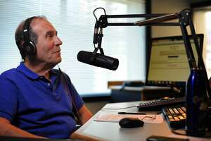 Ronn Owens speaks on the air in his studio on August 21, 2014 in San Francisco, CA. longtime Bay Area radio talk show host Ronn Owens has been battling Parkinson's disease.