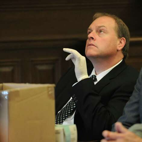 Edward McDonough, Demorcat Board of Elections Commissionor for Rensselaer County, listens to  Judge Lynch during a case in the Rensselaer County Courthouse Friday. (Lori Van Buren / Times Union) Photo: LORI VAN BUREN/TIMES UNION