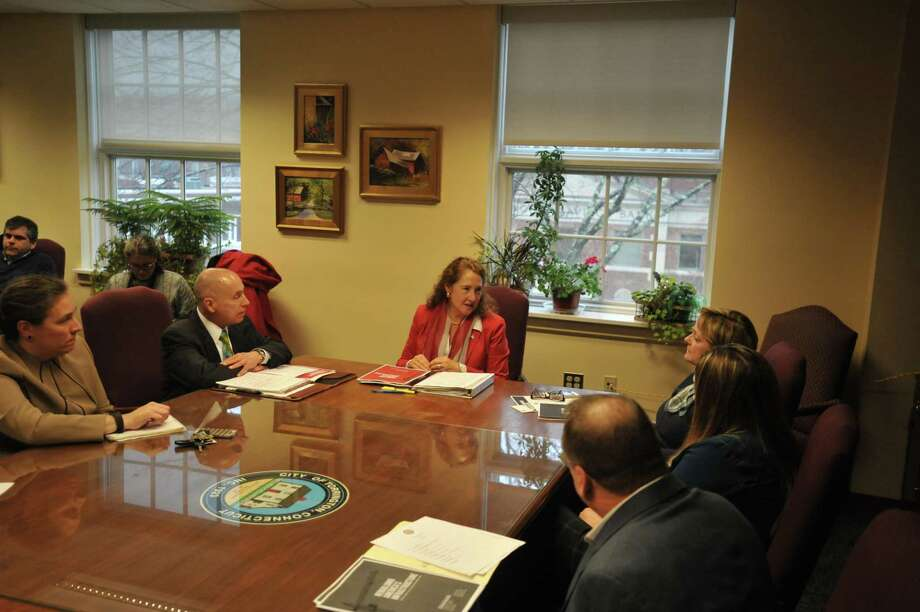 U.S. Rep. Elizabeth Esty, D-Connecticut, came to Torrington Friday to discuss a new infrastructure plan with Mayor Elinor Carbone and other officials. Photo: Ben Lambert / Hearst Connecticut Media
